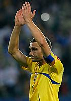 Photo: Glyn Thomas.<br />Italy v Ukraine. Quarter Finals, FIFA World Cup 2006. 30/06/2006.<br /> Ukraine's Andriy Shevchenko applauds his team's fans.