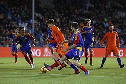 Guus Til of Jong Oranje (CL), Claudi Bove of Jong Andorra (CR) during the EURO U21 2017 qualifying match between Netherlands U21 and Andorra U21 at the Vijverberg stadium on November 10, 2017 in Doetinchem, The Netherlands