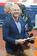 Iwan Thomas MBE during the Sainsbury's Anniversary Games at the Queen Elizabeth II Olympic Park, London, United Kingdom on 24 July 2015. Photo by Ellie Hoad.