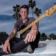 Editorial shoot of Belgian rock star Sam Bettens for HUMO magazine.