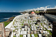 This cemetery is below the outer wall of Old San Juan.