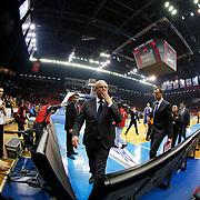 Anadolu Efes's Coach Dusan Ivkovic (C) during their Turkish Airlines Euroleague Basketball Top 16 Round 5 match Anadolu Efes between Olympiacos Piraeus at Abdi ipekci arena in Istanbul, Turkey, Thursday January 29, 2015. Photo by Aykut AKICI/TURKPIX