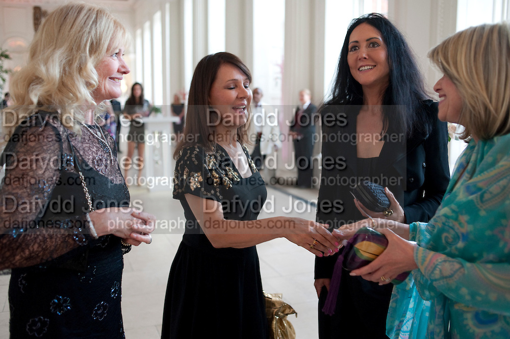 DEBBIE MOORE; ARLENE PHILLIPS; LIZ JONES, English National Ballet Summer party.  All proceeds from the Summer Party go towards English National Ballet. The Orangerie. Kensington Palace. London. 29 June 2011. <br /> <br />  , -DO NOT ARCHIVE-© Copyright Photograph by Dafydd Jones. 248 Clapham Rd. London SW9 0PZ. Tel 0207 820 0771. www.dafjones.com.