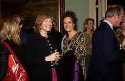Flora Soros and the Marchioness of Worcester. andrew Roberts and Leonie Frieda celebrate the publication of Andrew's 'Waterloo: Napoleon's Last Gamble' and the paperback of Leonie's 'Catherine de Medic'i. English-Speaking Union, Dartmouth House. London. 8 February 2005. ONE TIME USE ONLY - DO NOT ARCHIVE  © Copyright Photograph by Dafydd Jones 66 Stockwell Park Rd. London SW9 0DA Tel 020 7733 0108 www.dafjones.com