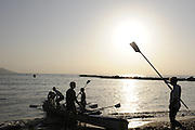 San Remo, Italy,  GV. General Views around the  beach, at the FISA Coastal World Championships. Fri. 17.10.2008.[Photo, Peter Spurrier/Intersport-images] Coastal Rowing Course: San Remo Beach, San Remo, ITALY , Sunrise, Sunsets, Silhouettes