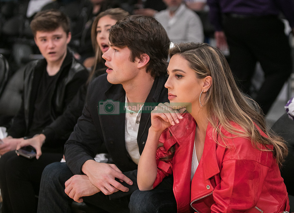 February 8, 2018 - Los Angeles, California, U.S - Connor Spears and Sophia Rose Stallone attend the NBA game between the Los Angeles Lakers and the Oklahoma Thunder on Thursday February 8, 2018 at the Staples Center in Los Angeles, California. Lakers defeat Thunder, 106-81. (Credit Image: © Prensa Internacional via ZUMA Wire)