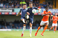 Southend United's Harry Lennon and Liam Ridgewell clear from Blackpool's Armand Gnanduillet<br /> <br /> Photographer Rob Newell/CameraSport<br /> <br /> The EFL Sky Bet Championship - Southend United v Blackpool - Saturday 10th August 2019 - Roots Hall - Southend<br /> <br /> World Copyright © 2019 CameraSport. All rights reserved. 43 Linden Ave. Countesthorpe. Leicester. England. LE8 5PG - Tel: +44 (0) 116 277 4147 - admin@camerasport.com - www.camerasport.com