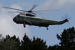 © Licensed to London News Pictures. 03/06/2019. London, UK. Marine One arrives at Winfield House on the first day of a state visit to the UK by US President Donald Trump. Photo credit: George Cracknell Wright/LNP
