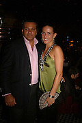 Sophie Anderton and Sudhir Singh, Spring party at Frankie Dettori's bar and Grill. 3 Yeoman's Row. London sw3. 10 April 2006. ONE TIME USE ONLY - DO NOT ARCHIVE  © Copyright Photograph by Dafydd Jones 66 Stockwell Park Rd. London SW9 0DA Tel 020 7733 0108 www.dafjones.com