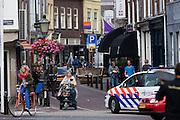 Verkeer in de Twijnstraat in Utrecht.<br /> <br /> Traffic at the Twijnstraat in Utrecht.