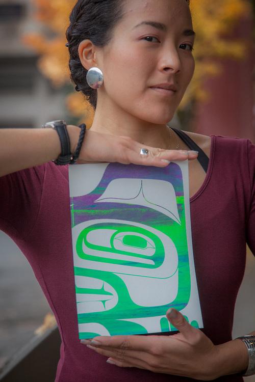 Artist Crystal Kaakeeyaa Whorl Demientieff at the ATIA Convention in Juneau, Alaska  907-780-4800