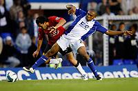 Photo: Richard Lane/Sportsbeat Images.<br />Birmingham City v Manchester United. The FA Barclays Premiership. 29/09/2007. <br />City's Wilson Palacios challenges United's Carlos Tevez.