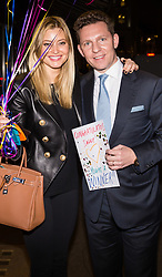 London , December 21 2017. Property tycoon Nick Candy and his wife Holly Vallance leave Cecconi's restaurant in Mayfair where they were celebrating the Candy brothers' high court victory in a £132 million damages claim brought by Mark Holyoake, arguing that he suffered losses and was threatened after borrowing £12m from Christian Candy.. © SWNS