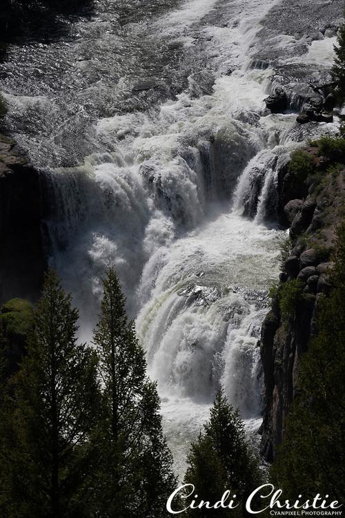Lower Mesa Falls, on Henry's Fork of the Snake River, plummets 65 feet on Tuesday, June 1, 2021, in the Caribou-Targhee National Forest near Ashton, Idaho. (© 2021 Cindi Christie/Cyanpixel)