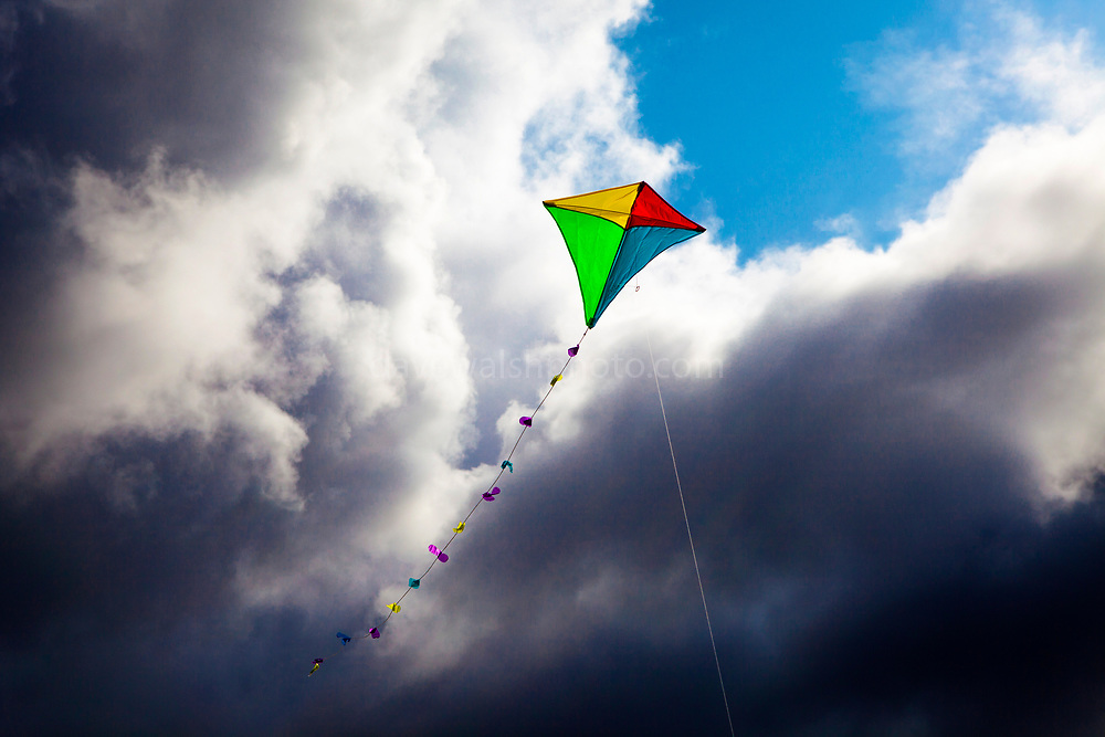 """Flying a kite on Fermoyle Beach, on the Dingle Peninsula, Ireland, This mage can be licensed via Millennium Images. Contact me for more details, or email mail@milim.com For prints, contact me, or click """"add to cart"""" to some standard print options."""