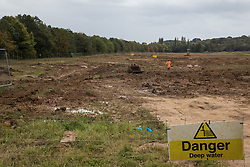 West Hyde, UK. 9th September, 2020. Land cleared of vegetation by HS2 Ltd close to the Chiltern Tunnel South Portal site for the HS2 high-speed rail link. HS2 Ltd will drill a 10-mile tunnel through the Chilterns from the South Portal site.