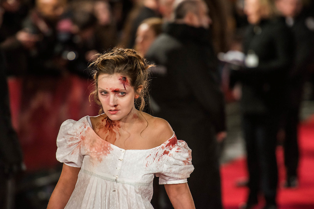 Zombies invade the red carpet - The European premiere of Pride and Prejudice and Zombies.