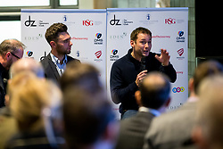 Le Mans winner Nick Tandy joins Dino Zamparelli as he hosts the launch of his 2017 Porsche Carrera Cup GB and Britcar Race Season - Rogan Thomson/JMP - 08/03/2017 - MOTORSPORT - Ashton Gate Stadium - Bristol, England.