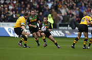 Northampton, Northamptonshire, 2nd October 2004 Northampton Saints vs London Wasps, Zurich Premiership Rugby, Franklyn Gardens, [Mandatory Credit: Peter Spurrier/Intersport Images],<br /> <br /> <br /> <br /> Northampton, Northamptonshire, 2nd October 2004 Northampton Saints vs London Wasps, Zurich Premiership Rugby, Franklyn Gardens, [Mandatory Credit: Peter Spurrier/Intersport Images],<br /> Shane Draham, breaking with the ball.