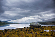 Peaceful scene at Loch Eil, a sea loch in Lochaber, Scotland that opens into Loch Linnhe near Fort William, Scottish Highlands