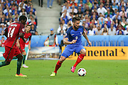 France Forward Olivier Giroud on the ball attacking during the Euro 2016 final between Portugal and France at Stade de France, Saint-Denis, Paris, France on 10 July 2016. Photo by Phil Duncan.