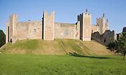 Framlingham castle, Suffolk, England