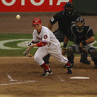 21 July 2007:  Washington Nationals first baseman Robert Fick (13) in action against the Colorado Rockies.  The Nationals defeated the Rockies 3-0 at RFK Stadium in Washington, D.C.  ****For Editorial Use Only****