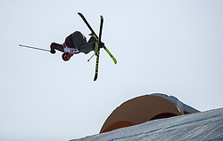 PYEONGCHANG, Feb. 18, 2018  Alex Beaulieu-Marchand of Canada competes during the men's ski slopestyle of freestyle skiing at the 2018 PyeongChang Winter Olympic Games, at Phoenix Snow Park, South Korea, on Feb. 18, 2018. Alex Beaulieu-Marchand won the bronze medal with 92.40 points. (Credit Image: © Fei Maohua/Xinhua via ZUMA Wire)