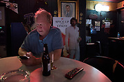 WEST, TEXAS - APRIL 14:  Mayor Tommy Muska has a beer at a local bar in West, Texas on April 18, 2017. (Photo by Cooper Neill for The Washington Post)