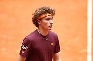 Ugo Humbert of France during his Men's Singles match, round of 64, against Aslan Karatsev of Russia on the Mutua Madrid Open 2021, Masters 1000 tennis tournament on May 3, 2021 at La Caja Magica in Madrid, Spain - Photo Oscar J Barroso / Spain ProSportsImages / DPPI / ProSportsImages / DPPI