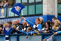 Bristol Rugby fans - Photo mandatory by-line: Rogan Thomson/JMP - 07966 386802 - 27/05/2015 - SPORT - Rugby Union - Worcester, England - Sixways Stadium - Worcester Warriors v Bristol Rugby - Greene King IPA Championship Play-Off Final 2nd Leg.