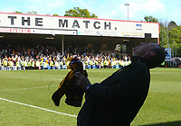 Fotball<br /> Skottland 2004/2005<br /> Foto: SBI/Digitalsport<br /> NORWAY ONLY<br /> <br /> Motherwell v Celtic<br /> <br /> Scottish Premier League, Fir Park, Motherwell<br /> <br /> Sunday 22/05/2005<br /> <br /> Terry Butcher looks to the skies after Motherwell's victory prevented Celtic from winning the league