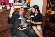 The Man Booker Best Of Beryl Prize, The Union, 50 Greek Street, London, 19 April 2011. Party celebrates special prize created by the Booker Foundation in honour of the late Beryl Bainbridge who died in July 2010.   -DO NOT ARCHIVE-© Copyright Photograph by Dafydd Jones. 248 Clapham Rd. London SW9 0PZ. Tel 0207 820 0771. www.dafjones.com. A.N. WILSON; CLAIRE FOX, The Man Booker Best Of Beryl Prize, The Union, 50 Greek Street, London, 19 April 2011. Party celebrates special prize created by the Booker Foundation in honour of the late Beryl Bainbridge who died in July 2010.   -DO NOT ARCHIVE-© Copyright Photograph by Dafydd Jones. 248 Clapham Rd. London SW9 0PZ. Tel 0207 820 0771. www.dafjones.com.