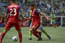 May 26, 2018 - Seattle, Washington, U.S - MLS Soccer 2018: RSL's DANILO ACOSTA (25) in action as Real Salt Lake visits the Seattle Sounders in a MLS match at Century Link Field in Seattle, WA. (Credit Image: © Jeff Halstead via ZUMA Wire)