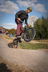 Skateboard park on Lordship Recreation Ground, Tottenham, London. 'Lordship Loop' mountain bike track designed by Welsh downhill champion Rowan Sorrell & home of the Trax cycle club