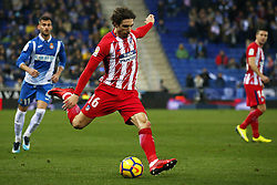 December 22, 2017 - Barcelona, Spain - Sime Vrsaljko during the La Liga match between RCD Espanyol and Atletico de Madrid, in Barcelona, on December 22, 2017. Photo: Joan Valls/Urbanandsport/Nurphoto  (Credit Image: © Joan Valls/NurPhoto via ZUMA Press)