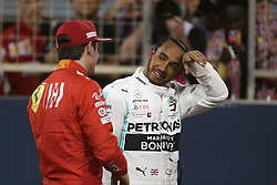 March 30, 2019 - Sakhir, Bahrain - Motorsports: FIA Formula One World Championship 2019, Grand Prix of Bahrain, ..#16 Charles Leclerc (MCO, Scuderia Ferrari Mission Winnow), #44 Lewis Hamilton (GBR, Mercedes AMG Petronas Motorsport) (Credit Image: © Hoch Zwei via ZUMA Wire)