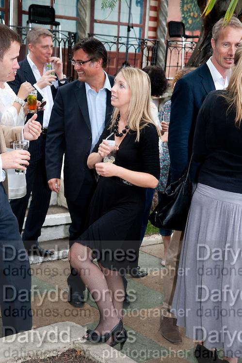 EMILIE THYSSE, Archant Summer party. Kensington Roof Gardens. London. 7 July 2010. -DO NOT ARCHIVE-© Copyright Photograph by Dafydd Jones. 248 Clapham Rd. London SW9 0PZ. Tel 0207 820 0771. www.dafjones.com.