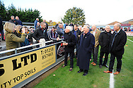 Members of the Taunton Town FA Cup team of 1981 going around the Virador Stadium before the The FA Cup match between Taunton Town and Barrow at the Viridor Stadium, Taunton, United Kingdom on 6 November 2016. Photo by Graham Hunt.