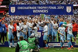 Coventry City celebrating winning the Checkatrade Trophy Final, Coventry City 2-1 Oxford United - Photo mandatory by-line: Jason Brown/JMP -  02/04//2017 - SPORT - Football - London - Wembley Stadium - Coventry City v Oxford United - Checkatrade Trophy Final