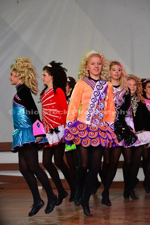 Photo of group of girls dancing at the Dublin Irish Festival in Dublin, Ohio.