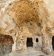 Picture & image of the Theatron vaulted ceiling, Uplistsikhe (Lords Fortress) troglodyte cave city, near Gori, Shida Kartli, Georgia. UNESCO World Heritage Tentative List<br /> <br /> Inhabited from the early Iron age to the late middle ages Uplistsikhe cave city eas, during the Roman & Hellenistic period, home to around 20,000 people. .<br /> <br /> Visit our MEDIEVAL PHOTO COLLECTIONS for more   photos  to download or buy as prints https://funkystock.photoshelter.com/gallery-collection/Medieval-Middle-Ages-Historic-Places-Arcaeological-Sites-Pictures-Images-of/C0000B5ZA54_WD0s<br /> <br /> Visit our REPUBLIC of GEORGIA HISTORIC PLACES PHOTO COLLECTIONS for more photos to browse, download or buy as wall art prints https://funkystock.photoshelter.com/gallery-collection/Pictures-Images-of-Georgia-Country-Historic-Landmark-Places-Museum-Antiquities/C0000c1oD9eVkh9c