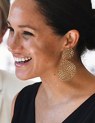 The Duchess of Sussex attends a women founders and social entrepreneurs event, Woodstock Exchange, Cape Town, South Africa. Photo credit should read: Doug Peters/EMPICS