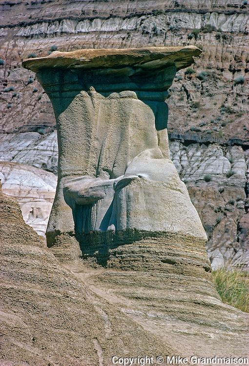 Hoodoos in Badlands<br /> East Coulee near Drumheller<br /> Alberta<br /> Canada