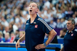 Vincent Collet, head coach of France during basketball match between National Teams of France and Finland at Day 1 of the FIBA EuroBasket 2017 at Hartwall Arena in Helsinki, Finland on August 31, 2017. Photo by Vid Ponikvar / Sportida