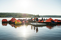 Rafting for Wishes to benefit Make A Wish NH at Hesky Park on Meredith Bay.  Karen Bobotas for the Laconia Daily Sun