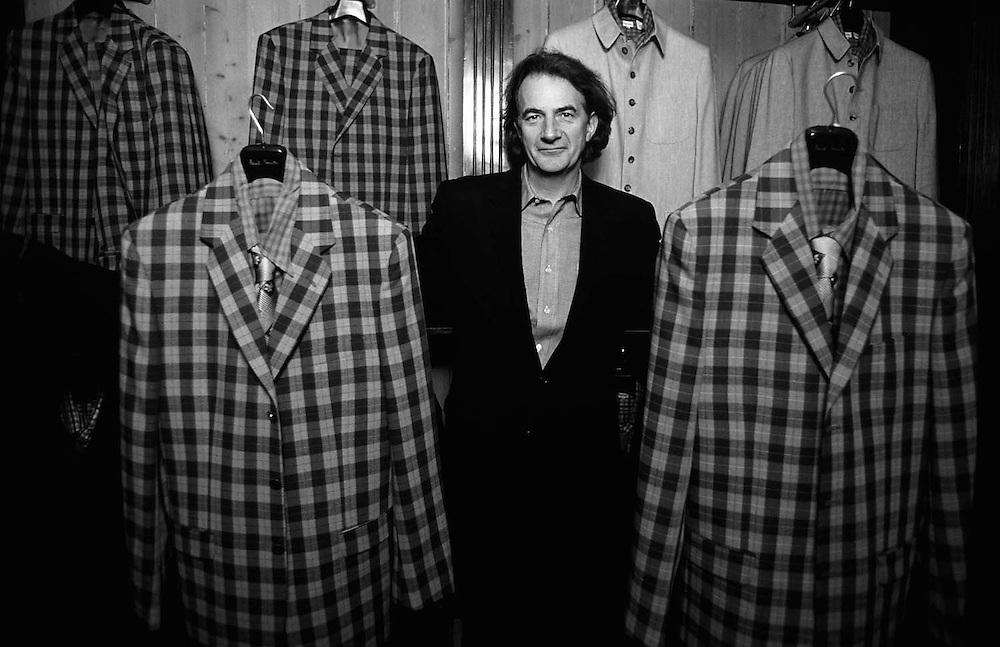 British fashion designer Paul Smith seen at his shop in London, England .Photographed by Terry Fincher