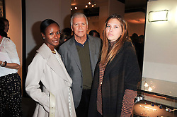 Private View of the Pavilion of Art & Design London 2010 held in Berkeley Square, London on 11th October 2010.<br /> Picture Shows:-Left to right, SHALA MONROQUE, LARRY GAGOSIAN and DASHA ZHUKOVA.