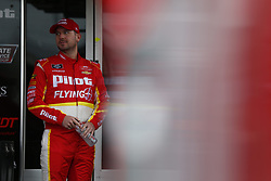 October 5, 2018 - Dover, Delaware, United States of America - Michael Annett (5) hangs out in the garage during practice for the Bar Harbor 200 at Dover International Speedway in Dover, Delaware. (Credit Image: © Justin R. Noe Asp Inc/ASP via ZUMA Wire)