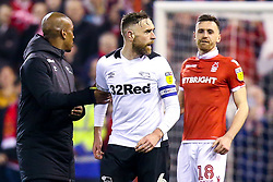 Richard Keogh of Derby County cuts a angry figure - Mandatory by-line: Robbie Stephenson/JMP - 25/02/2019 - FOOTBALL - The City Ground - Nottingham, England - Nottingham Forest v Derby County - Sky Bet Championship